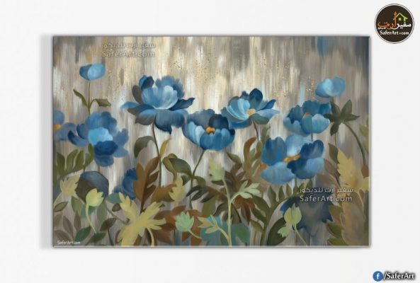 blue-flowers-modern-wall-art